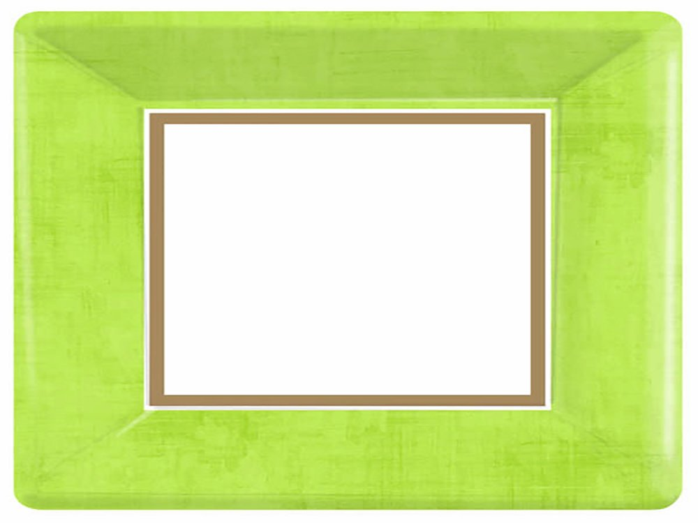 Amscan Durable Avocado Green & Brown Solid Border Square Dinner Paper 10'' x 10'' Pack 18 Others Party Supplies (216 Piece)