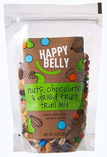 Happy Belly Nuts, Chocolate & Dried Fruit Trail Mix, 16 ounce, Pack of 2