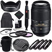 Nikon AF-S DX NIKKOR 55-300mm f/4.5-5.6G ED VR Lens ? + 58mm 3 Piece Filter Set (UV, CPL, FL) + 58mm +1 +2 +4 +10 Close-Up Macro Filter Set with Pouch + Lens Cap + Lens Cleaning Pen Bundle