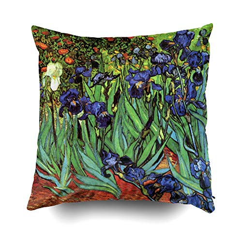 Musesh Christams by Van Gogh fine Art Cushions Case Throw Pillow Cover for Sofa Home Decorative Pillowslip Gift Ideas Household Pillowcase Zippered Pillow Covers 20X20Inch