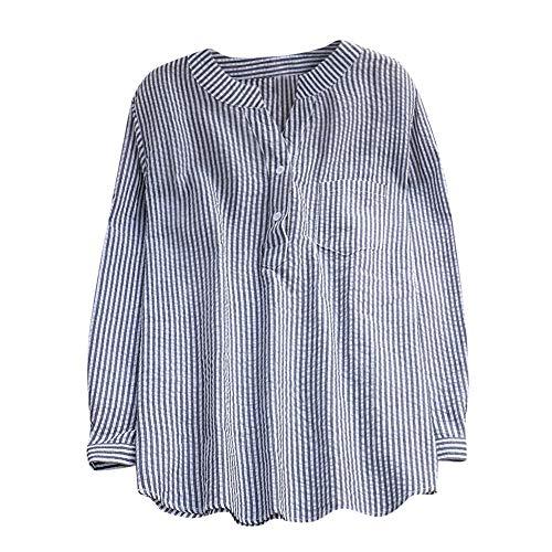 Women Tops, ANJUNIE Long Sleeve Loose Cotton V-Neck Shirt Fashion Slim ()