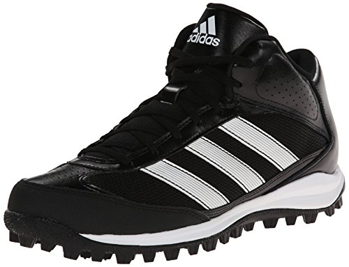 adidas Performance Men's Turf Hog LX Low Football Cleat,Black/White,13 M US