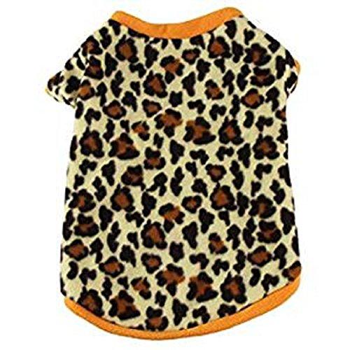 - Hot Pet Shirt! AMA(TM) Pet Puppy Small Dog Clothes Winter Warm Fleece T-Shirt Sweatshirt Doggy Apparel Costume (S, Coffee)