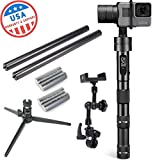 EVO GP-PRO 3 Axis GoPro Stabilizer for Hero4 or Hero5 Black, Garmin Virb