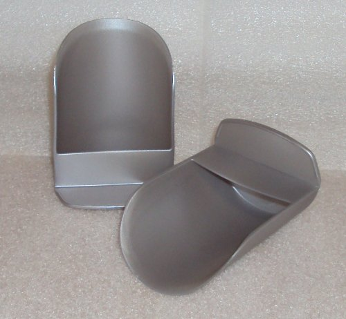 Tupperware Rocker Scoops, Set of 2, Silver Satin Color