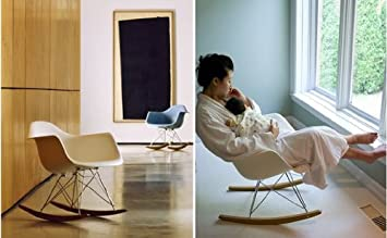 White Eames RAR Rocking Lounge Retro Rocker Chair: Amazon.co.uk: Kitchen U0026  Home