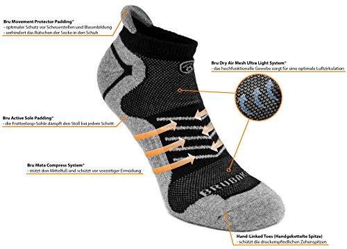 Posteriore Grigio Corsa 6 Lo Con Funzionali nero Sport Mountain Nero Brubaker Logo Paia Per Morbido Cinturino Sneaker In Traspiranti Calze Calzini Bike AcvTX