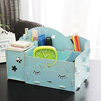 Menú vida Ladies joyas cajas de almacenamiento Creative DIY cajones organizador de escritorio de oficina cajas de almacenamiento de escritorio largo ...