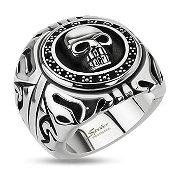 Autiga Totenkopf Ring Siegel Shield Edelstahl