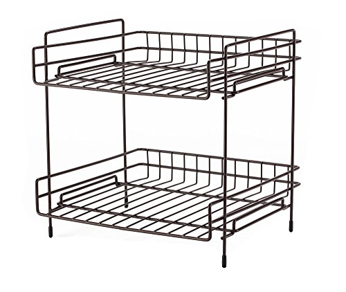 NEUN WELTEN Deep 2 Tier Kitchen Helper Shelf Rack with Large Storage Space 10