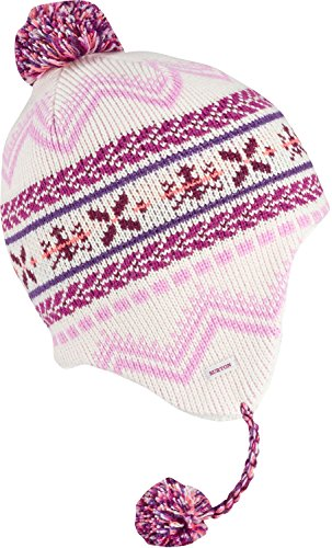 Burton Youth Girls Cocoa Earflap Beanie, Stout White, One Size