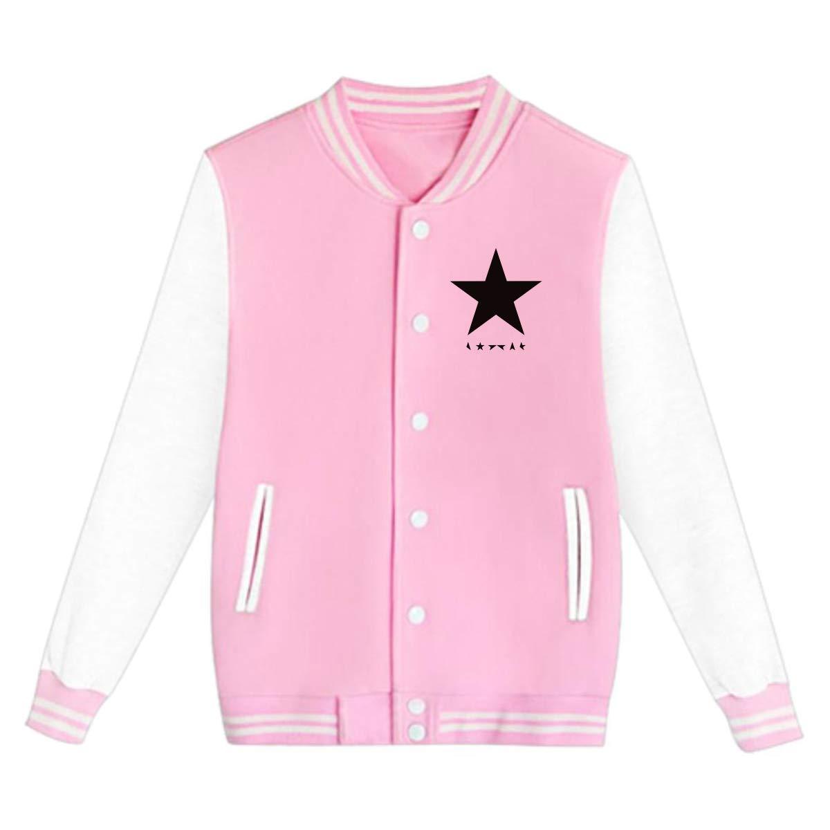 LIALUER David Bowie Blackstar Album Cover Boys Girls Baseball Jacket Uniform V Sweater Coat