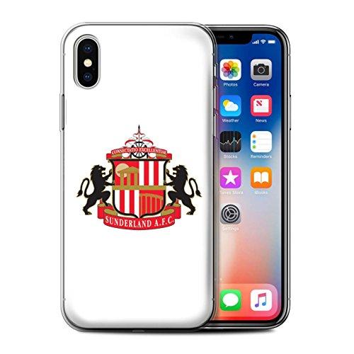 Officiel Sunderland AFC Coque / Etui Gel TPU pour Apple iPhone X/10 / Blanc Design / SAFC Crête Club Football Collection
