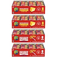 RITZ Peanut Butter Sandwich Crackers and Cheese Sandwich Crackers Variety Pack, 32 Snack Packs