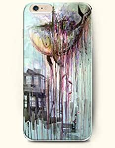 SevenArc Hard Phone Case for Apple iphone 5 5s ( iphone 5 5s + )( inches) - Sharks And House - Oil Painting