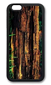 MOKSHOP Adorable decayed tree trunk Soft Case Protective Shell Cell Phone Cover For Apple Iphone 6 Plus (5.5 Inch) - TPU Black