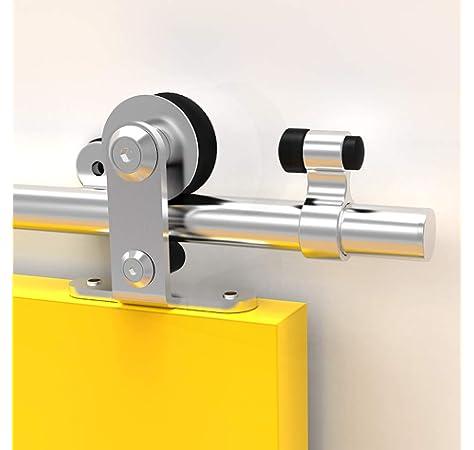 Puerta corredera Hahaemall con cierre de rodillo básico, puerta deslizante resistente, kit de puerta corredera de ...