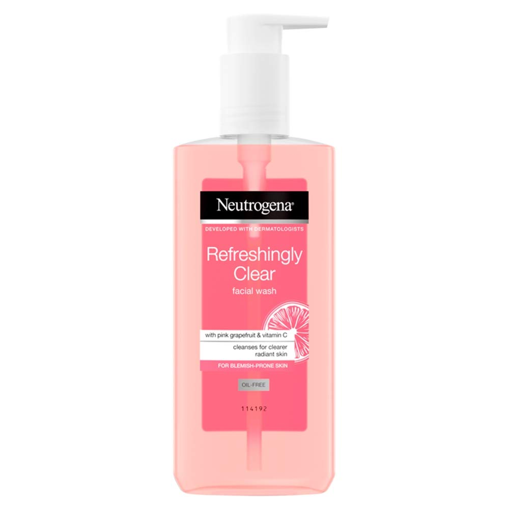 Neutrogena Refreshingly Clear Facial Wash with Pink Grapefruit and Vitamin C, 200ml