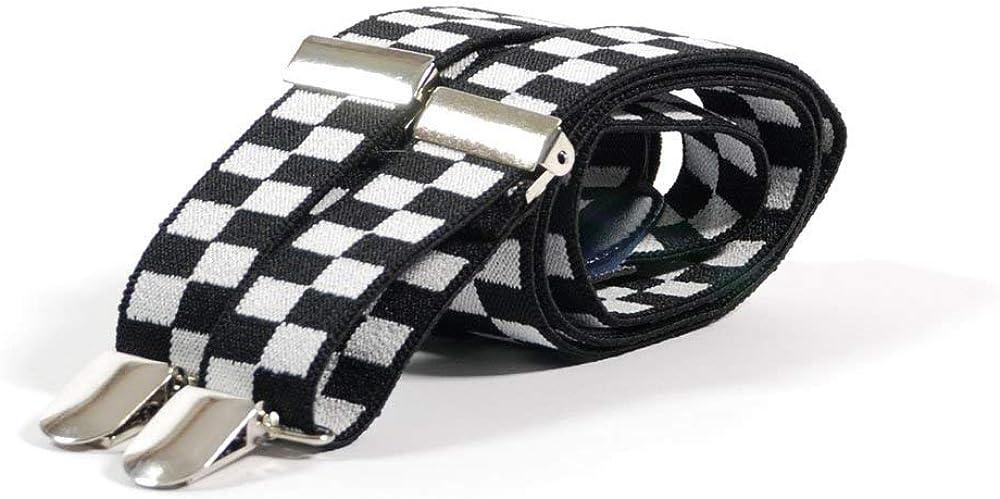 Retro Styler Mens Ska Check Trouser Braces