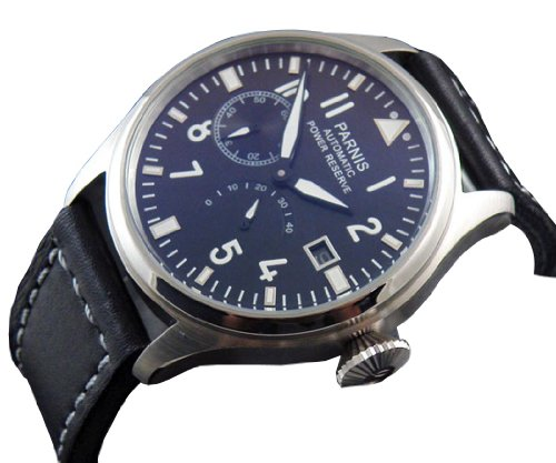 47mm-Fanmis-Flieger-Big-Pilot-Black-Dial-Power-Reserve-Automatic-Mens-Womens-Black-Leather-Strap-Watch