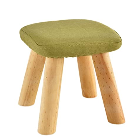 Amazon.com: GRJXMD Taburete de madera para piernas, silla ...