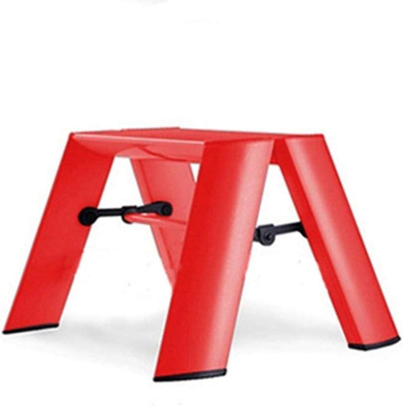 Escalera Taburete De Aluminio Un Paso Silla Plegable para Ni/ños de Doble Uso Taburete de Boceto para Exteriores Al Aire Libre para Ni/ños 1 Paso Taburete Inicio KADJ Color : Orange