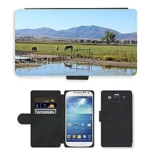 PU LEATHER case coque housse smartphone Flip bag Cover protection // M00134358 Horse Ranch Rural Rebelión en la granja // Samsung Galaxy S3 S III SIII i9300