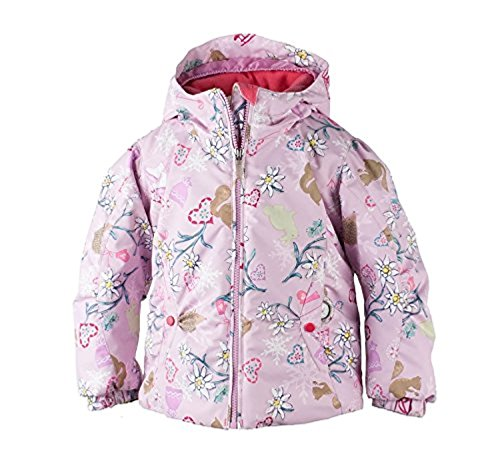 Obermeyer Kids Girls Crystal Jacket Snowday - Let's Play Print 8 & Glove by Obermeyer