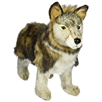 Hansa Standing Wolf cachorro de peluche