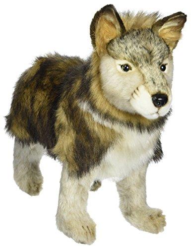 Hansa Standing Wolf Cub Plush