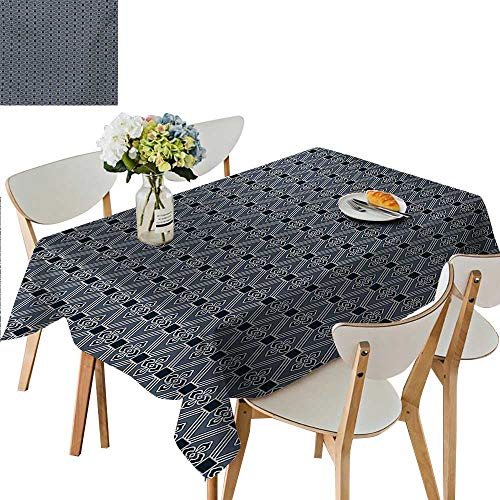- Polyester Fabric Tablecloth,Diamond Line Pattern with Squares and Abstract Graphic Flowers Kitchen Tablecloth Picnic Cloth Great for Partie,69W x 108L Inches Multicolor