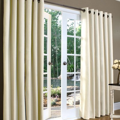 Grommet Top Thermal Weathermate - Weathermate Solid Cotton Grommet Top Curtain (Set of 2) Size: 84