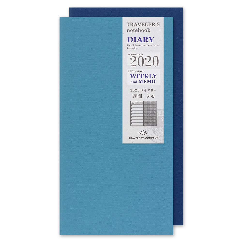 Traveler's Notebook Note Refill 2020 A5 Slim Weekly Diary 14409006 (Beginning of January 2020) by Designphil
