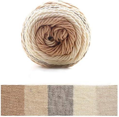 Xiuinserty - Hilo de algodón para tejer (100 g, 5 hebras, ovillo ...
