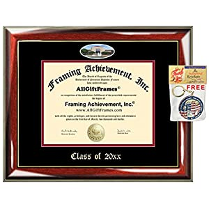 AllGiftFrames Custom Diploma Frame Embossed University of Houston College Best Graduation UH Degree Frame Double Mat Campus Fisheye Picture Frame Cheap Certificate Graduate Gift