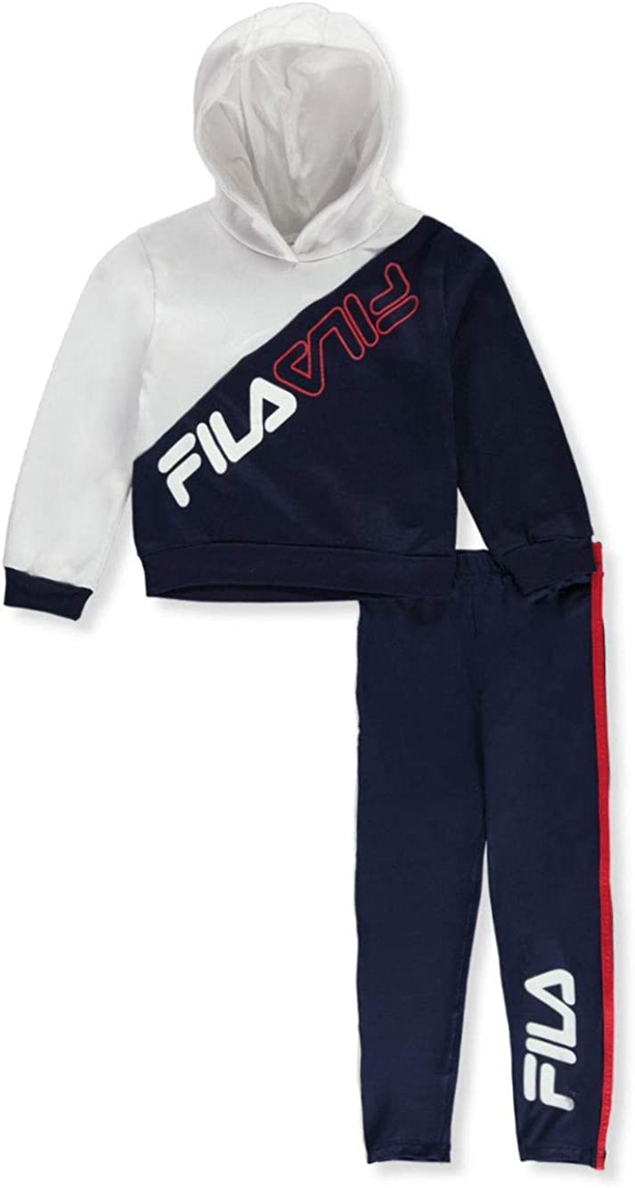 Fila Girls Glitter Screen-Print 2-Piece Leggings Set Outfit