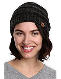 1dc7664f2b248e Tough Headwear Cable Knit Beanie - Thick, Soft & Warm Chunky Beanie Hats  for Women