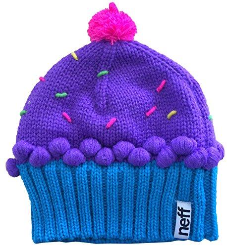 f911a418268 Neff Women s Cupcake Beanie Hat - Neon Purple Blue