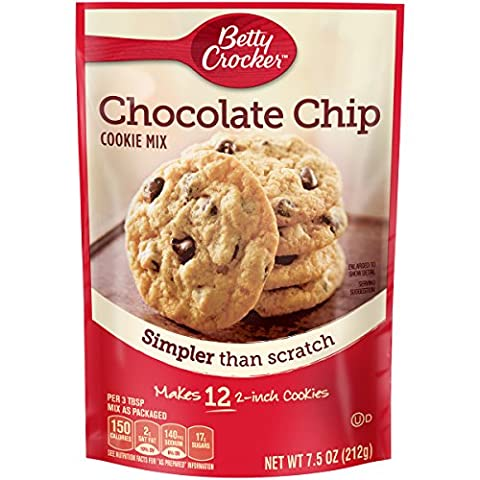 Betty Crocker Cookie Mix Chocolate Chip Snack Size Makes 12 Cookies 7.5 oz Pouch - Betty Crocker Chips