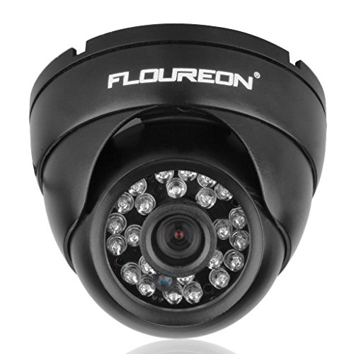 Floureon 1200TVL Vandalproof CCTV DVR Security Camera NTSC Waterproof Night Vision Dome 3 Inch Tall