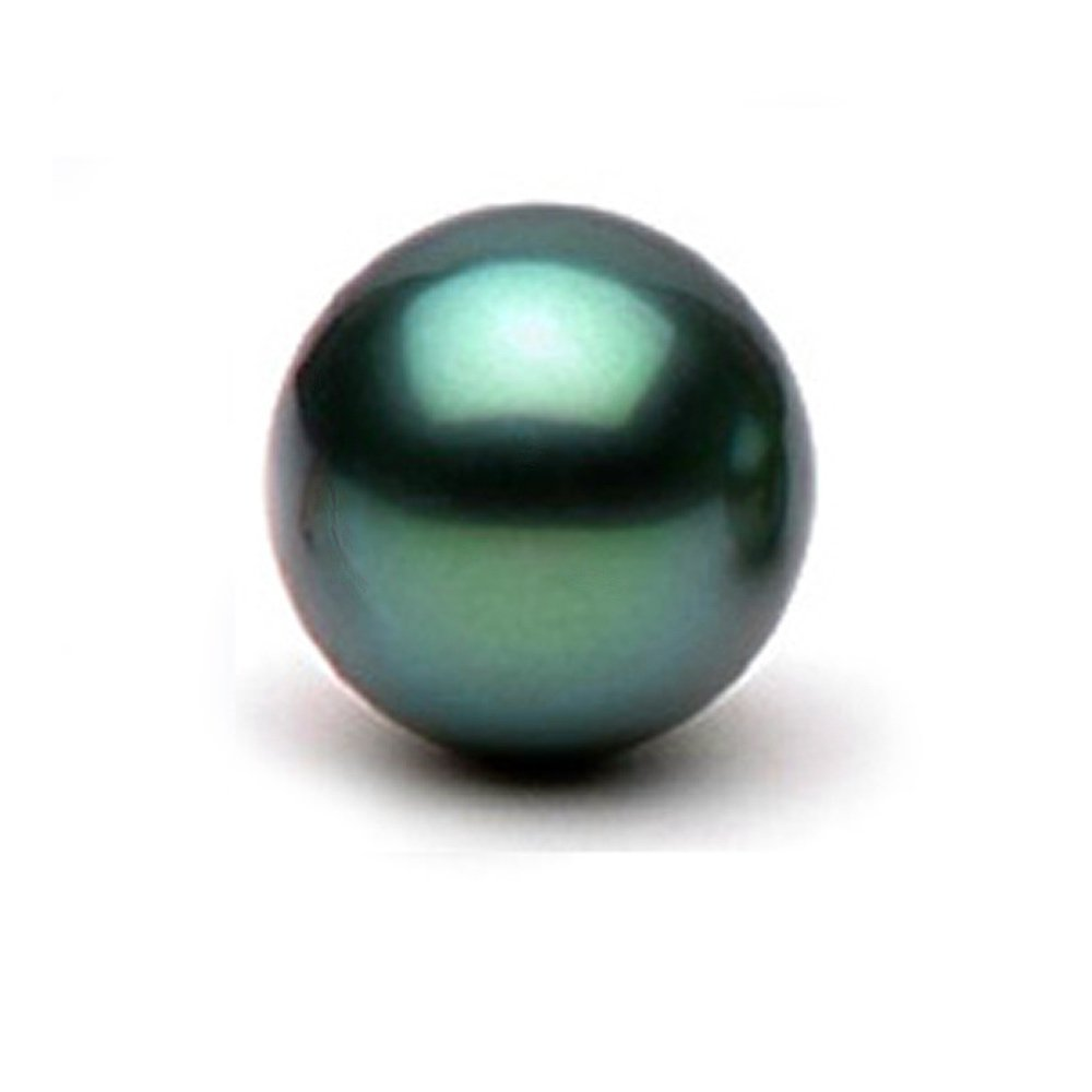Single Cultured Black Tahitian Loose Pearl, Round Shape, AAA Quality, 8.0-9.0mm, Undrilled