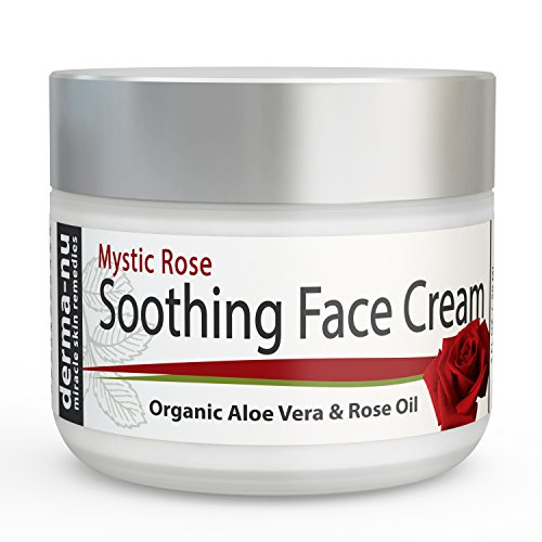 Soothing Face Cream For Wrinkles   Anti Aging By Derma Nu   Daily Moisturizer With Rose Oil  Organic Aloe Vera  Green Tea Plus Vitamin B5 For Wrinkle Repair Day Cream For Fine Lines   2 Oz