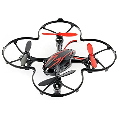 HUBSAN X4 H107C Drone 4 Channel 2.4GHz 6 Axis Gyro RC Quadcopter with 720P HD Camera Mode 2 RTF (720P red black) from HUBSAN