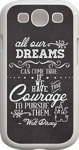 Dreams Walt Disney Quote For Case Iphone 4/4S Cover- Custom Personalized For Case Iphone 4/4S Cover
