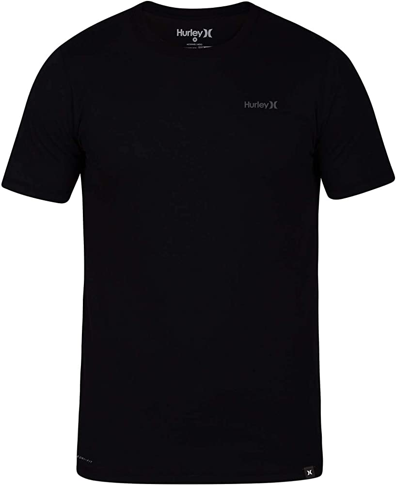 067941833 Hurley Men s Dri-Fit One   Only 2.0 Tee Black Small. Back. Double-tap to  zoom