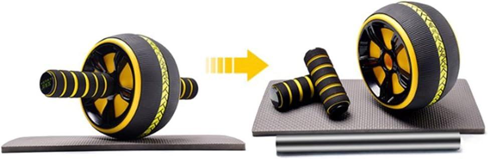 VORCOOL Ruota per Esercizi Addominali Ab Roller Ruota per Esercizi Addominali e Fitness per Allenamento di Forza del Core con Ginocchiere