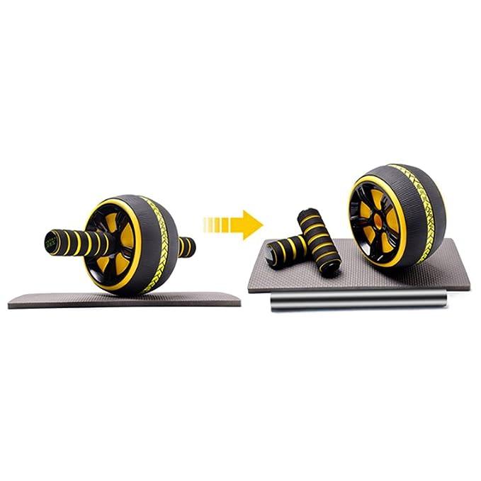 BAUCHTRAINER Übung Premium Wheel Fitness Rad Rolle Rückentrainer Bauchmuskel