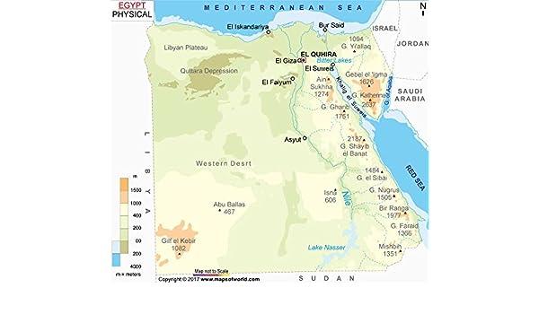 Egipto Mapa Físico (36
