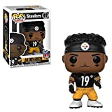 Funko Juju Smith Schuster [Pittsburgh Steelers]: NFL x POP! Football Vinyl Figure + 1 Official NFL Trading Card Bundle [#097 / 31750]