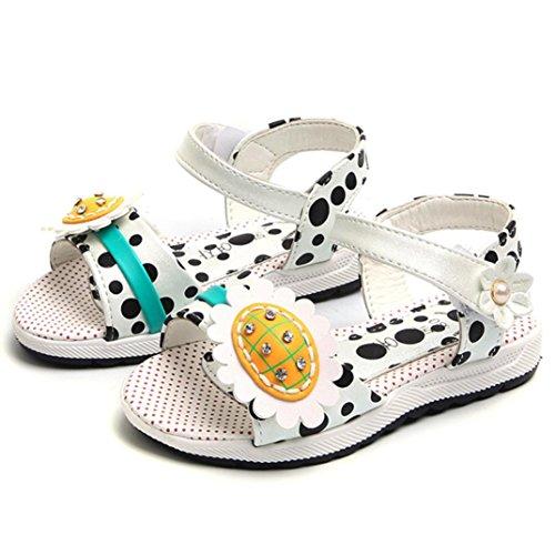 Fheaven Baby Girls Sandals Sneaker Niños Dot Impreso Girasol Floral Casual Princesa Summer Zapatos Beige